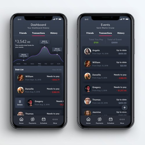 Financial Dashboard App UI Concept