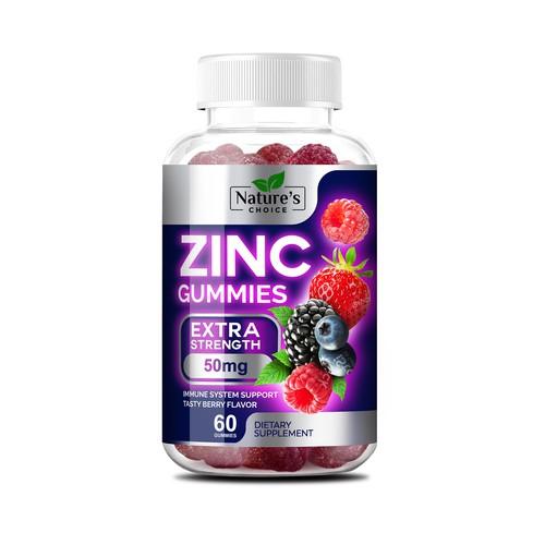 Zinc gummies design label