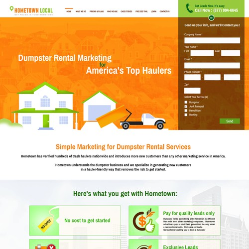 Create a great new landing page for HometownLocal.com!