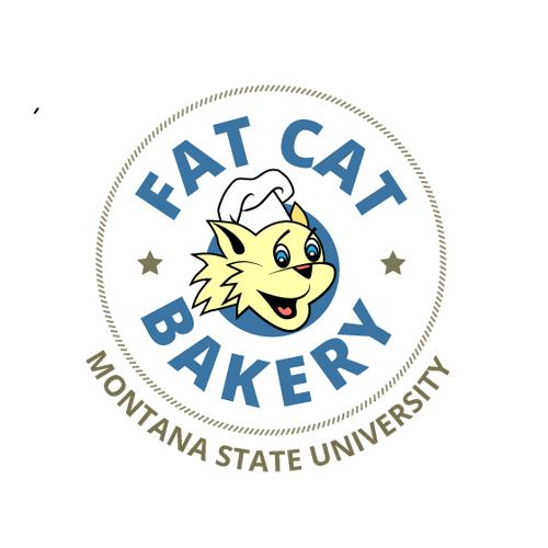 Create a logo for Montana State University's bakery that is printed on signage and all packing