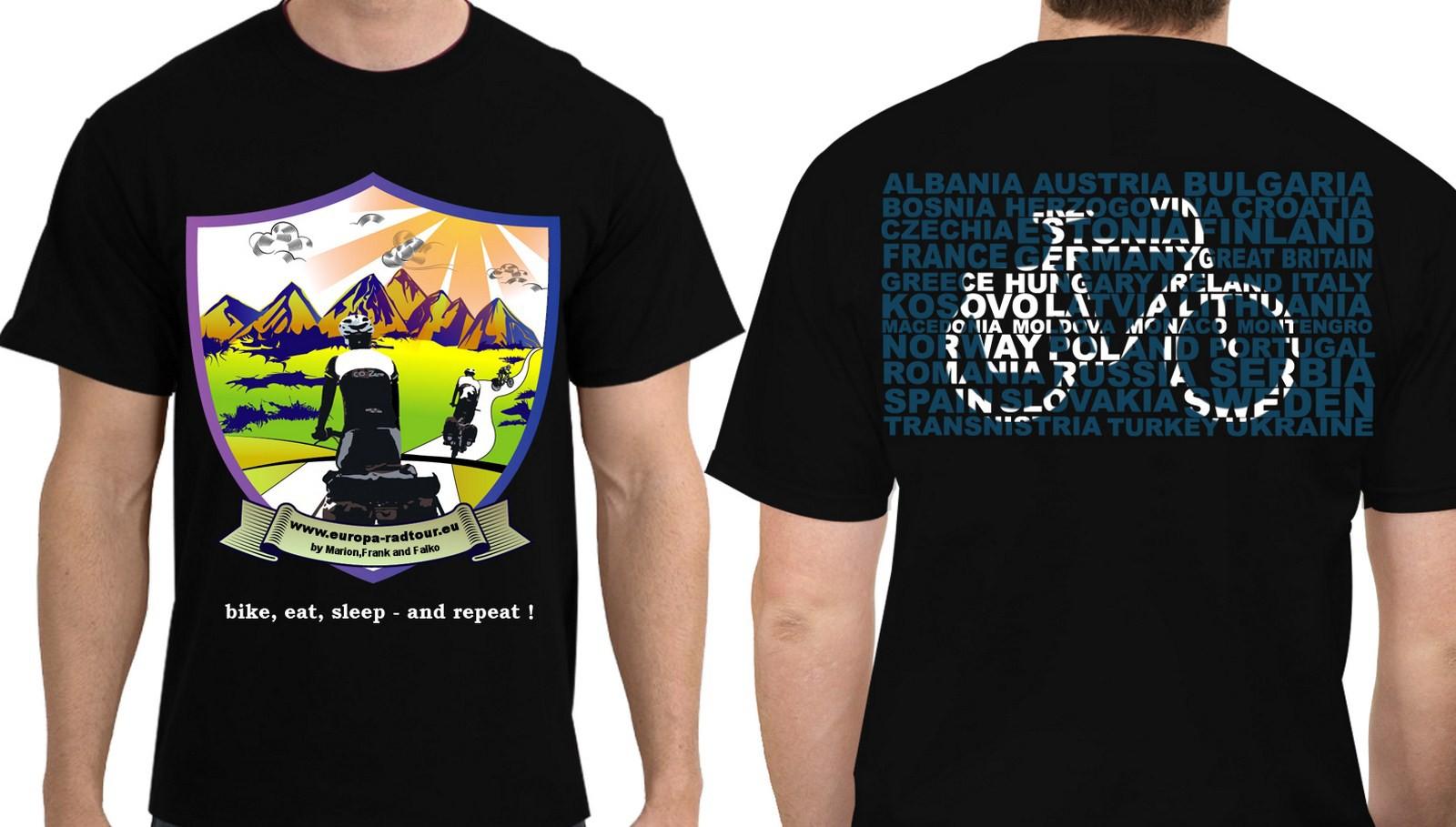 T-Shirt für Langstreckenradler