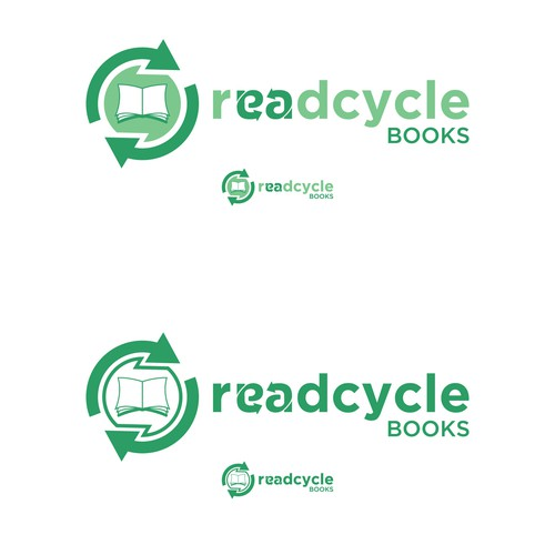 Logo for a recycling books company