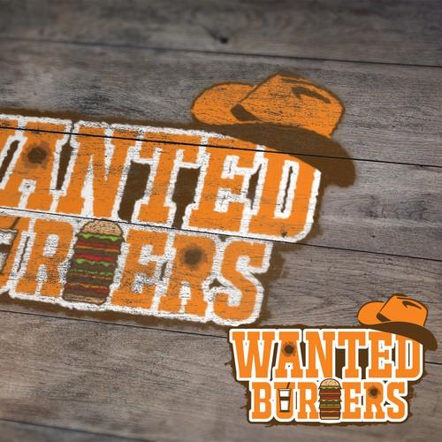 Wanted Burger Logo Design