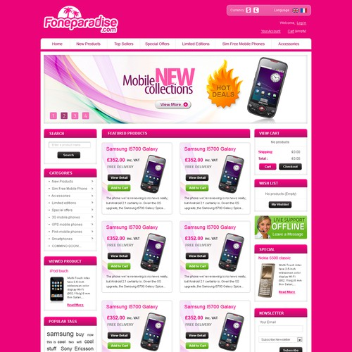 Home page for Foneparadise.com