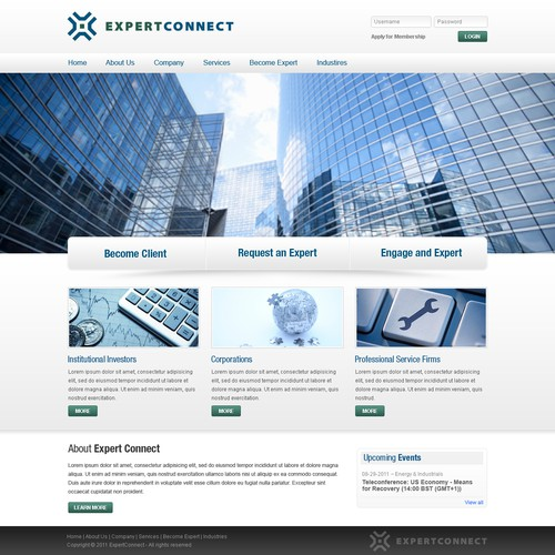 ExpertConnect needs a new website design