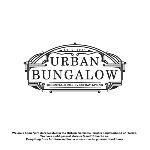 Create a vintage style logo for Urban Bungalow