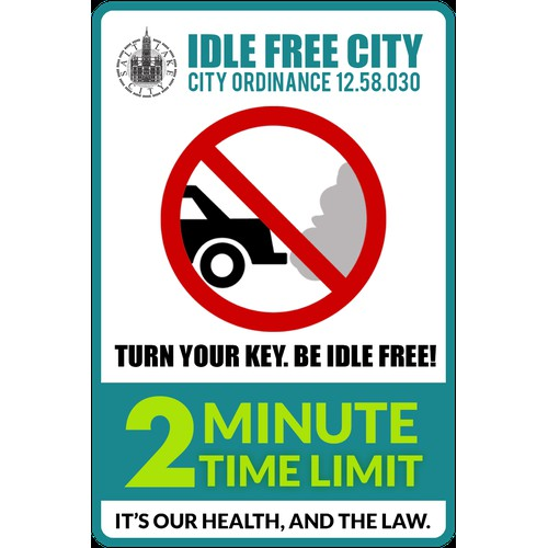 Redesign Salt Lake's Idle Free City Signs