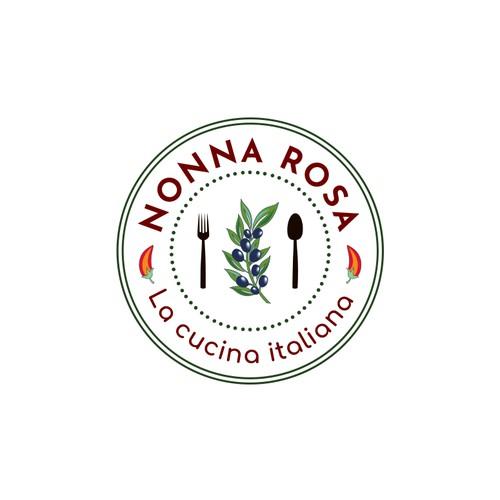 Nonna Rosa La Cucina Italiana braucht ein Logo, dass Italien, Familie, Tradition, gutes Essen zeigt