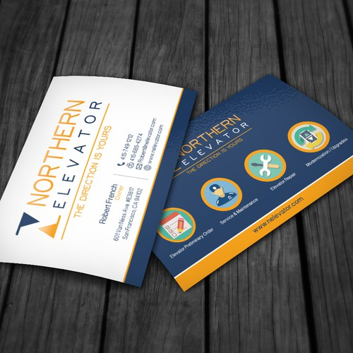 Northern Elevator Business Card Custom Design
