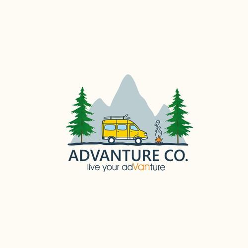 Advanture Company logo design