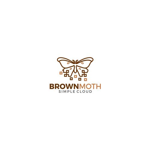 Brown Moth Logo Design