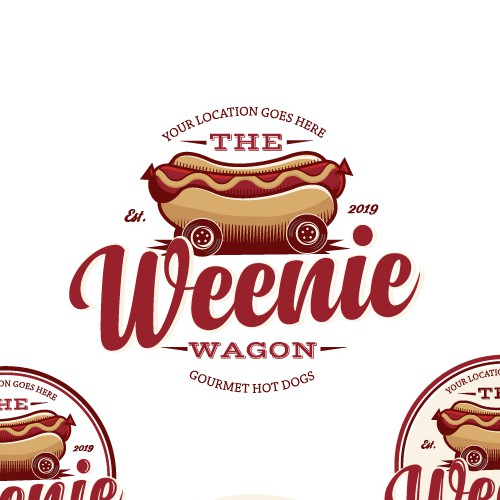 The Weenie Wagon Food Truck Logo