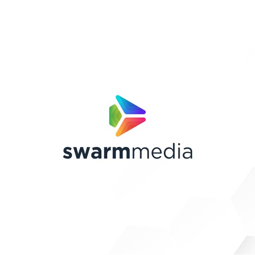 Colorful Logo For Music Entertainment, Swarm Media