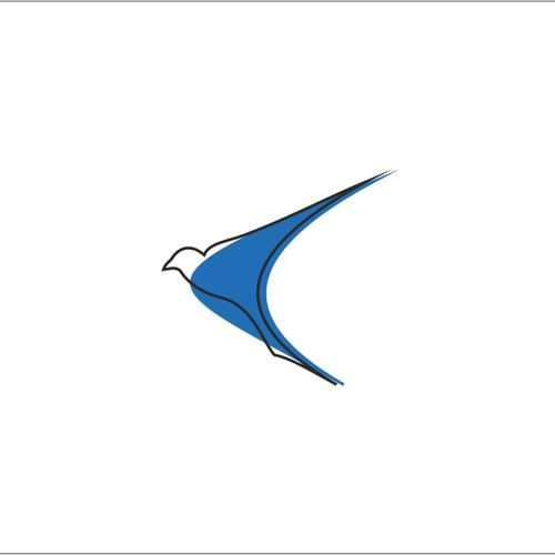 Simple logo for speed boat