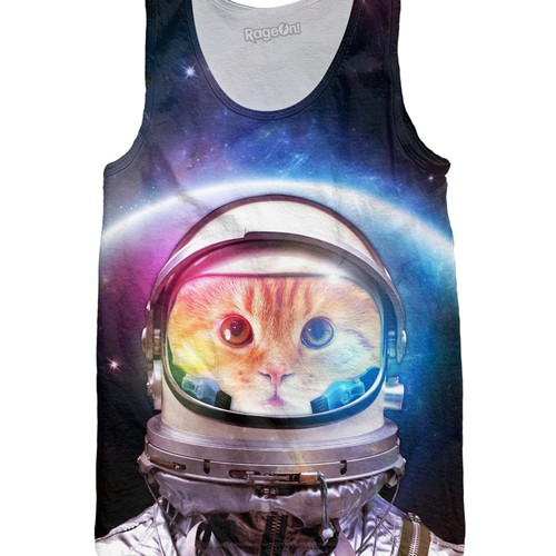 Captain Space Cat on Tank top