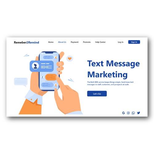 Text Message MarketingLanding page