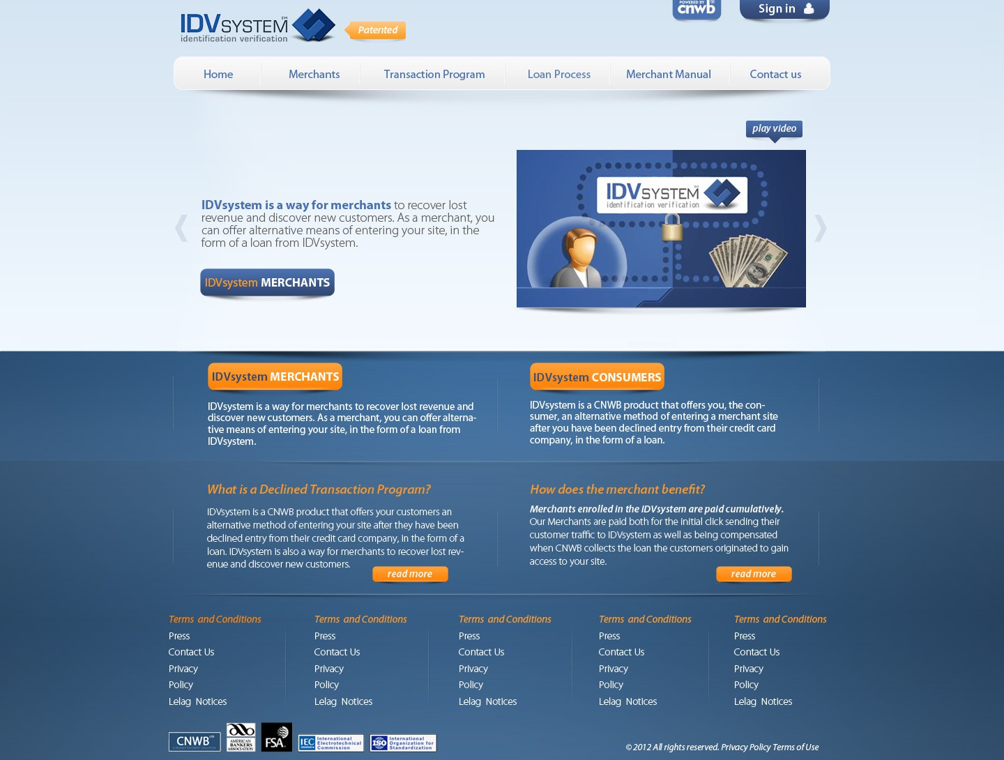 website design for IDVsystem