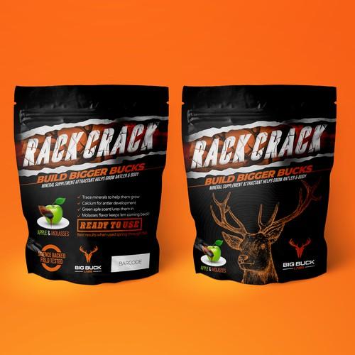Supplement Pouch Bag Packaging Design