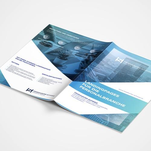 Flyer Design for HeadHunter Schweiz