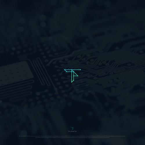 tech logo concept for flowto.