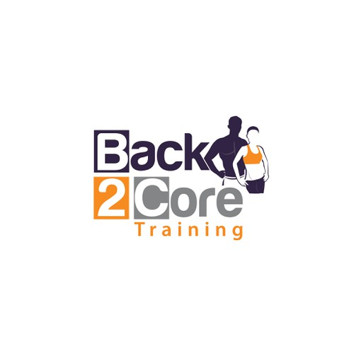 Create a Cool & Modern fitness logo for Back 2 Core Training!