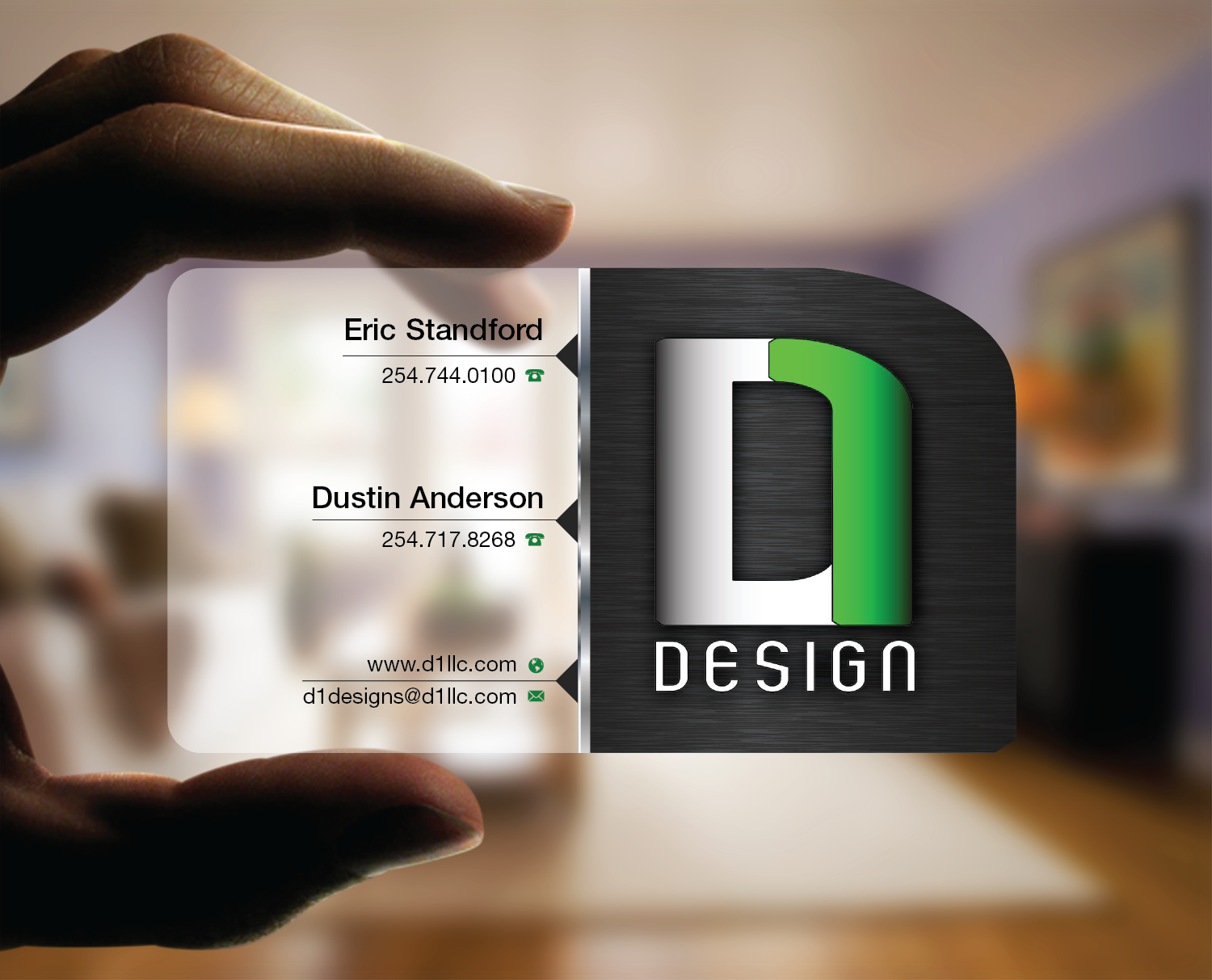 Design Firm Business Card - Clear and Clean