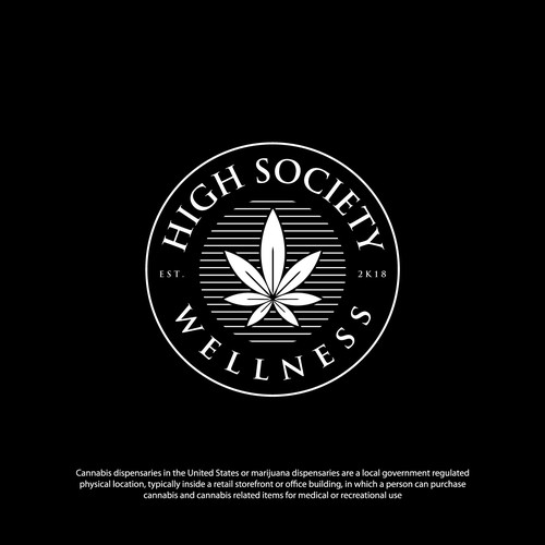 Luxury Badge logo design for high society hemp / marijuana