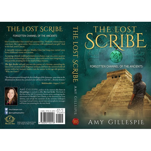 Dynamic Book Cover for Adventure Fiction Series, at forgotten sacred sites