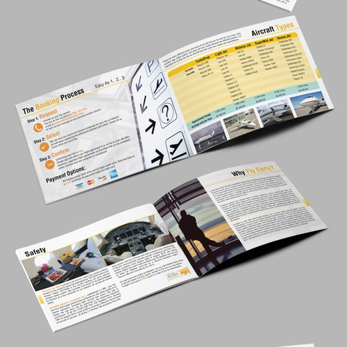 Brochure Booklet for Private Jet Charter Company