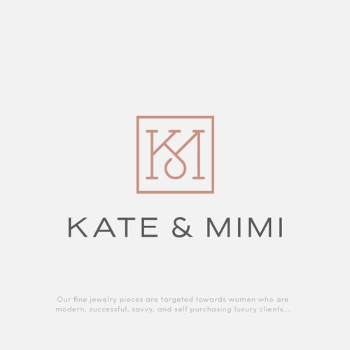 Elegant KM monogram for Kate & Mimi