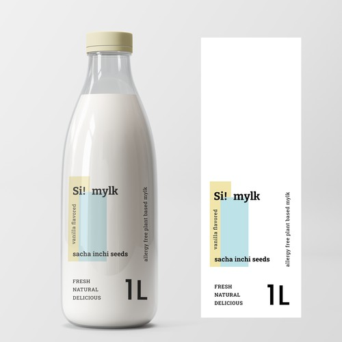 Minimal, modern label design