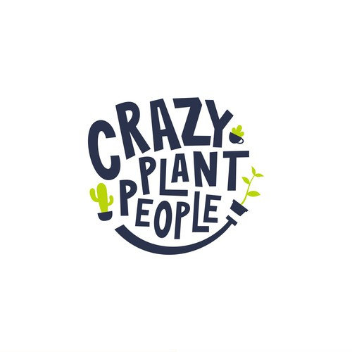 Sophisticated Fun Logo Concept for Crazy Plant People