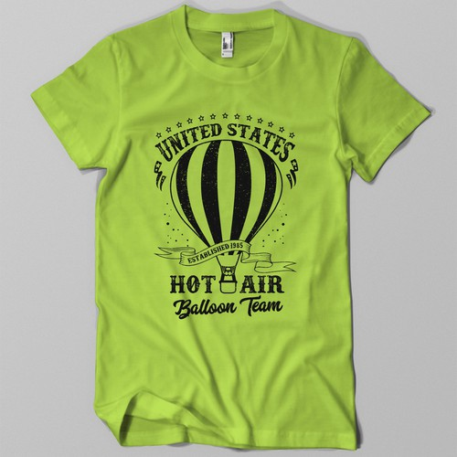 Hot Air Baloon Team t-shirt