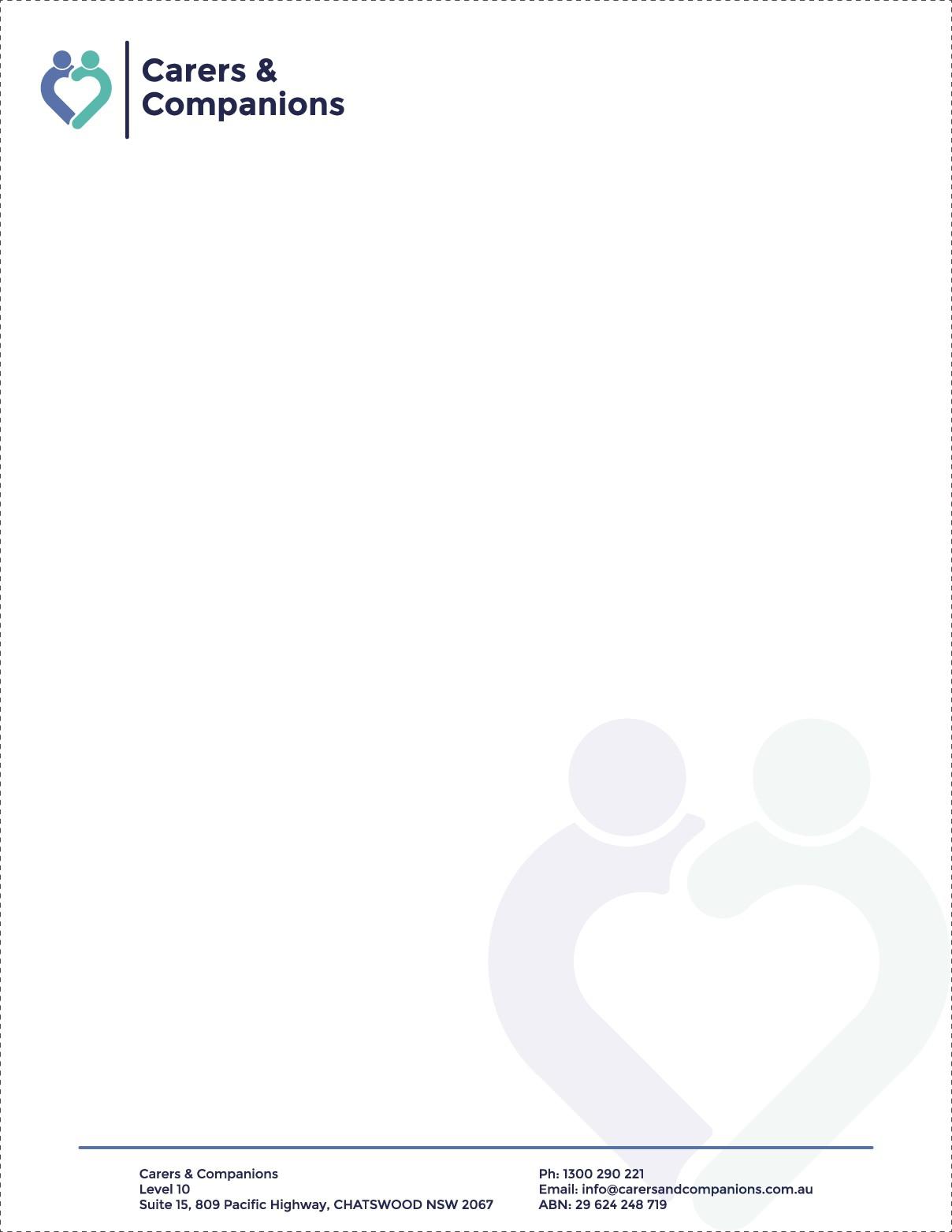 Letterhead + business card template