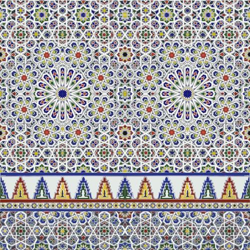 Morrocan zellige wallpaper