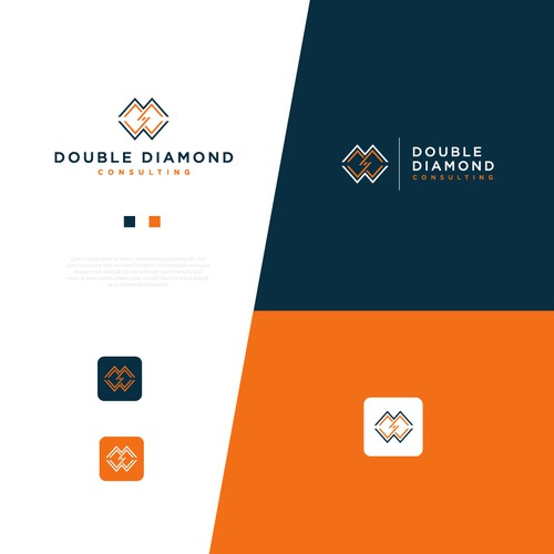 Elegant, masculine logo concept for Double Diamond Consulting