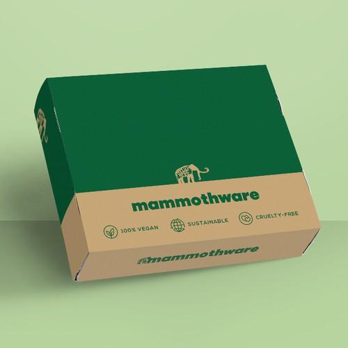 Packaging for vegan subscription box