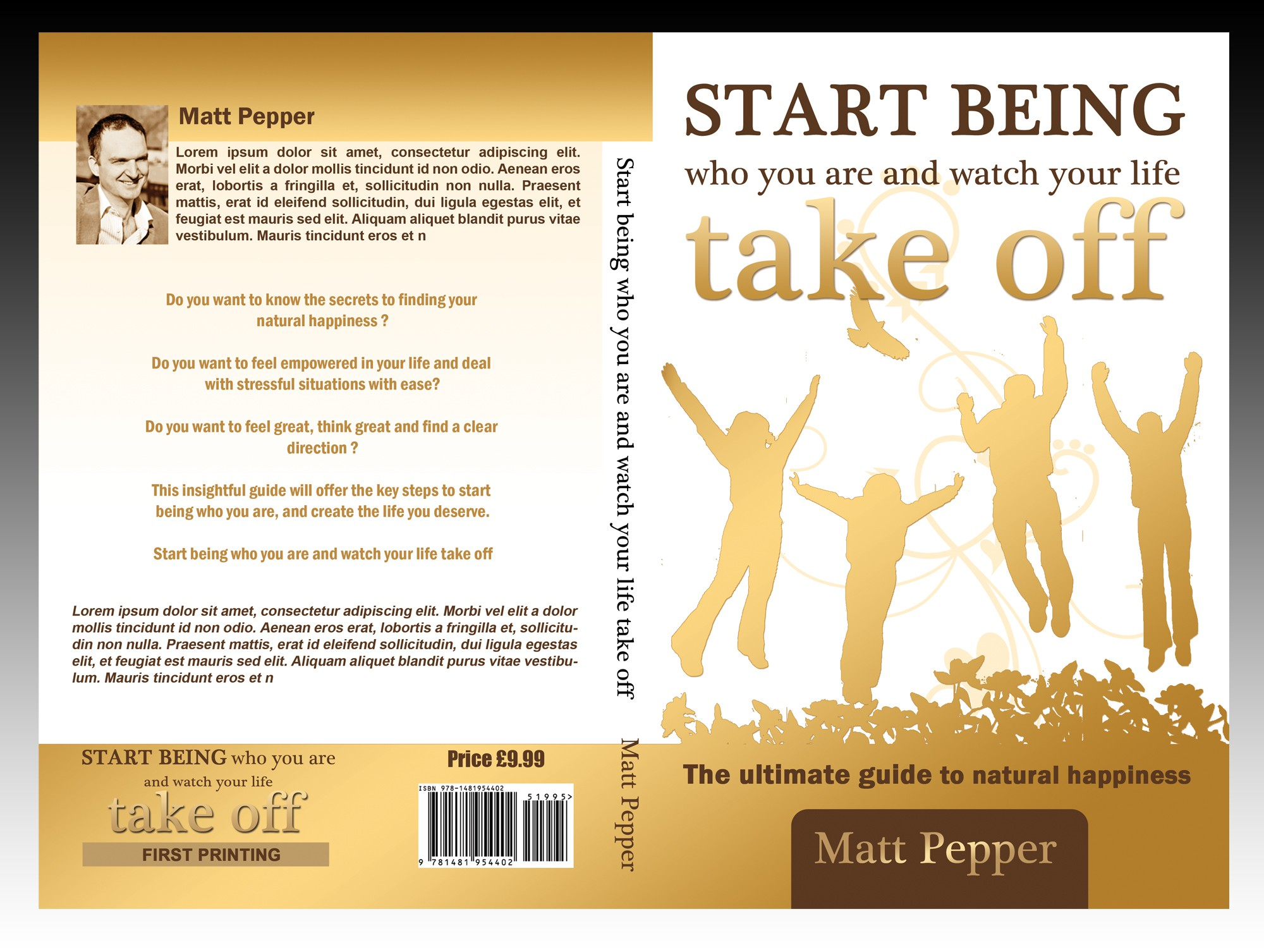 New book cover for exciting new book by Matt Pepper