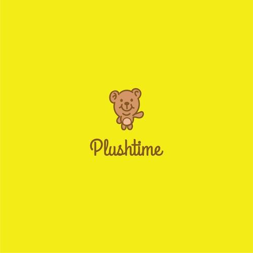 Simple bear logo for plushtime.
