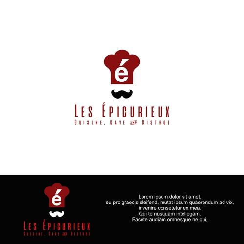 logo concept for Les Épicurieux