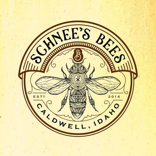 Logo design for a small honey bee business