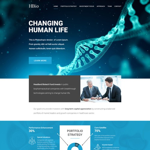 Web Design for HBio