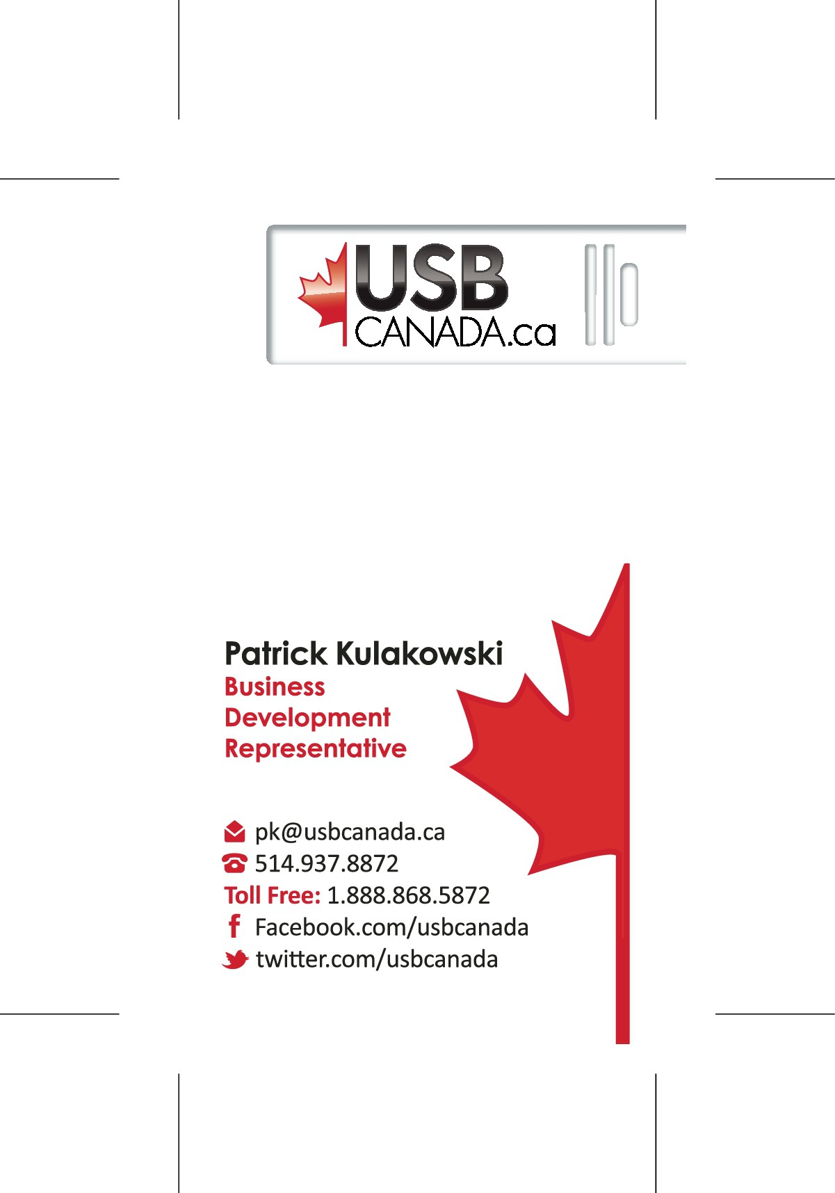 Business Card - new employee