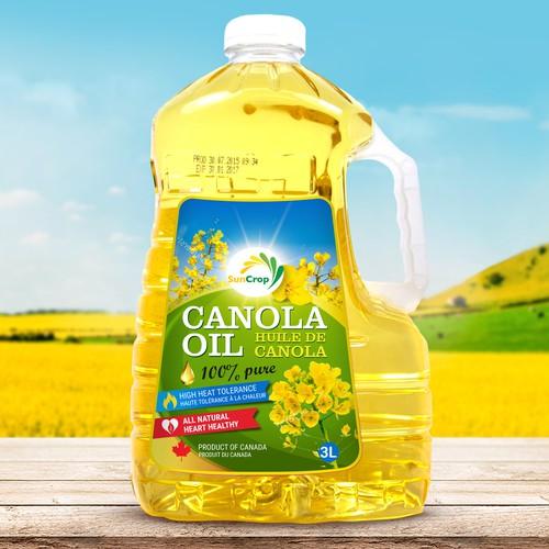 Label design for canola oil