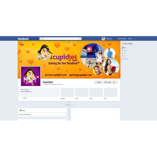 Create KickA** Facebook page for cupidjet.com! - A Dating Site for the Disabled!