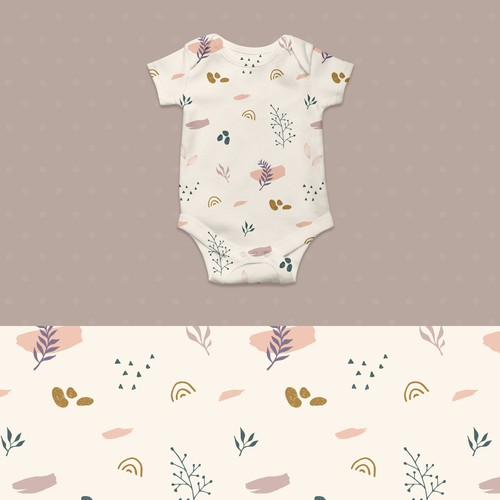 Cute pattern design for babywear