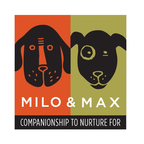 Create a unique logo / illustration for Milo & Max dog food brand
