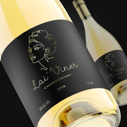 Lai' Vines wine label design