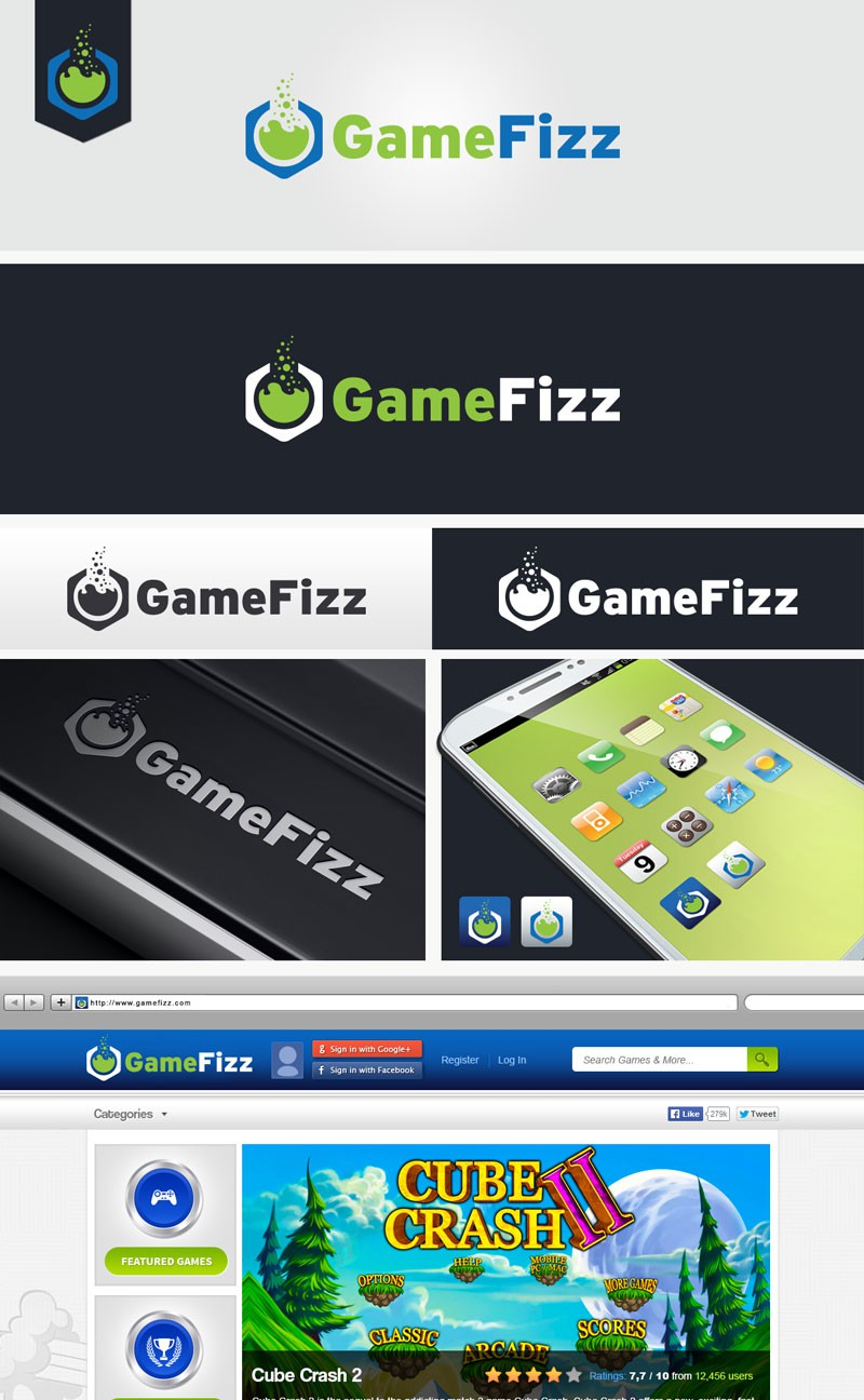 Logo for GameFizz, an online & mobile games developer/company
