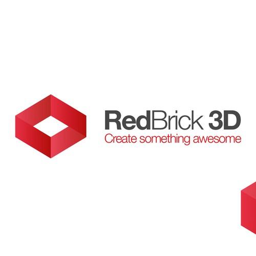 Simple, creative, stylish logo for eCommerce site RedBrick3D.com